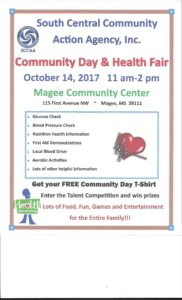 Community Day and Health Fair @ Magee Community Center | Magee | Mississippi | United States